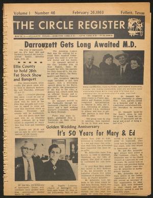 The Circle Register (Follett, Tex.), Vol. 1, No. 46, Ed. 1 Tuesday, February 26, 1963
