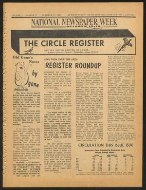 Primary view of object titled 'The Circle Register (Follett, Tex.), Vol. 2, No. 27, Ed. 1 Tuesday, October 15, 1963'.