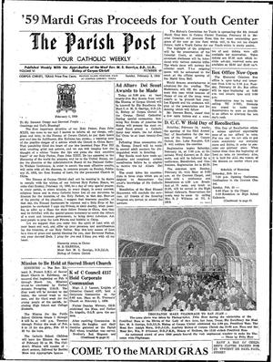 Primary view of object titled 'The Parish Post (Corpus Christi, Tex.), Vol. 6, No. 49, Ed. 1 Sunday, February 8, 1959'.