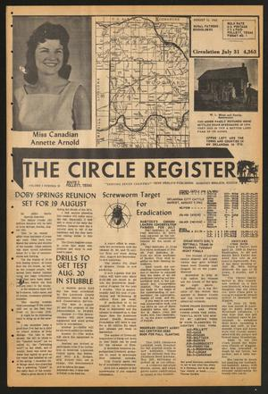 Primary view of object titled 'The Circle Register (Follett, Tex.), Vol. 1, No. 18, Ed. 1 Tuesday, August 14, 1962'.