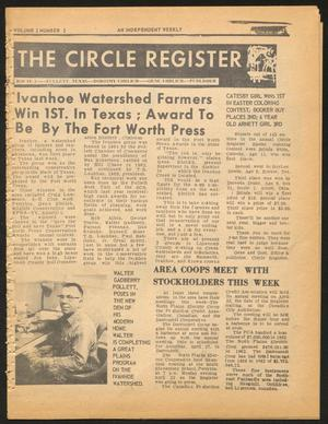 Primary view of object titled 'The Circle Register (Follett, Tex.), Vol. 2, No. 2, Ed. 1 Tuesday, April 23, 1963'.