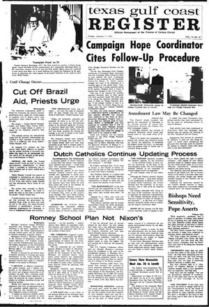 Primary view of object titled 'Texas Gulf Coast Register (Corpus Christi, Tex.), Vol. 3, No. 39, Ed. 1 Friday, January 17, 1969'.