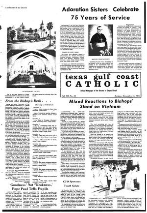 Primary view of object titled 'Texas Gulf Coast Catholic (Corpus Christi, Tex.), Vol. 7, No. 32, Ed. 1 Friday, December 3, 1971'.