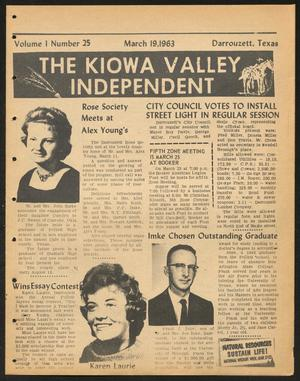 Primary view of object titled 'The Kiowa Valley Independent (Darrouzett, Tex.), Vol. 1, No. 25, Ed. 1 Tuesday, March 19, 1963'.