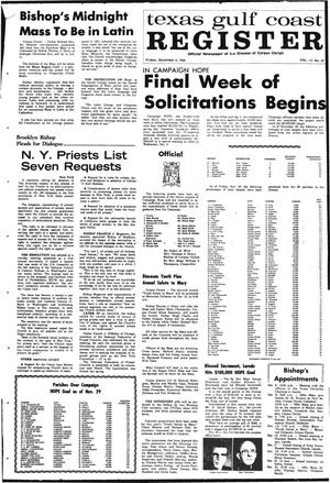 Primary view of object titled 'Texas Gulf Coast Register (Corpus Christi, Tex.), Vol. 3, No. 34, Ed. 1 Friday, December 6, 1968'.