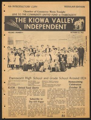 Primary view of object titled 'The Kiowa Valley Independent (Darrouzett, Tex.), Vol. 1, No. 4, Ed. 1 Tuesday, October 23, 1962'.