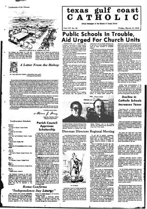 Primary view of object titled 'Texas Gulf Coast Catholic (Corpus Christi, Tex.), Vol. 2, No. 46, Ed. 1 Friday, March 17, 1972'.