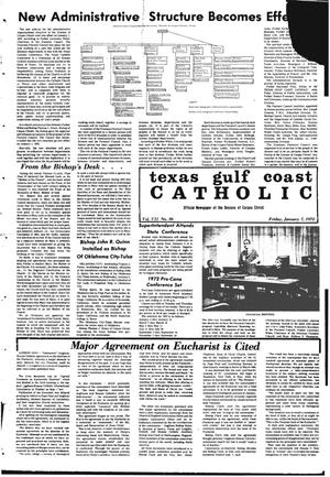 Primary view of object titled 'Texas Gulf Coast Catholic (Corpus Christi, Tex.), Vol. 2, No. 36, Ed. 1 Friday, January 7, 1972'.
