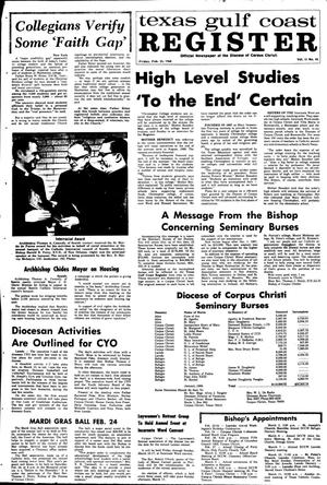 Primary view of object titled 'Texas Gulf Coast Register (Corpus Christi, Tex.), Vol. 2, No. 43, Ed. 1 Friday, February 23, 1968'.