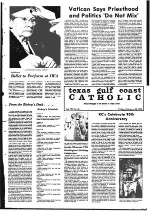 Primary view of object titled 'Texas Gulf Coast Catholic (Corpus Christi, Tex.), Vol. 2, No. 42, Ed. 1 Friday, February 18, 1972'.