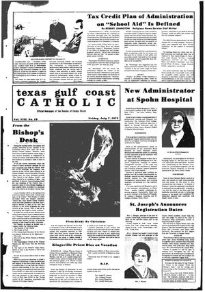 Primary view of object titled 'Texas Gulf Coast Catholic (Corpus Christi, Tex.), Vol. 3, No. 10, Ed. 1 Friday, July 7, 1972'.