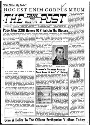 Primary view of object titled 'The Corpus Christi Post (Corpus Christi, Tex.), Vol. 8, No. 16, Ed. 1 Sunday, June 12, 1960'.
