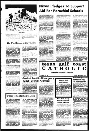 Primary view of object titled 'Texas Gulf Coast Catholic (Corpus Christi, Tex.), Vol. 8, No. 20, Ed. 1 Friday, August 27, 1971'.