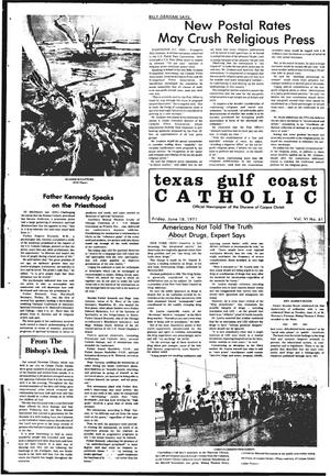 Primary view of object titled 'Texas Gulf Coast Catholic (Corpus Christi, Tex.), Vol. 6, No. 61, Ed. 1 Friday, June 18, 1971'.