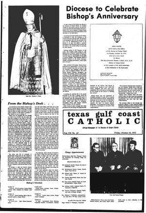 Primary view of object titled 'Texas Gulf Coast Catholic (Corpus Christi, Tex.), Vol. 8, No. 27, Ed. 1 Friday, October 15, 1971'.