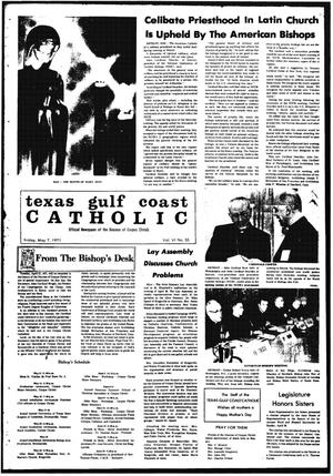 Primary view of object titled 'Texas Gulf Coast Catholic (Corpus Christi, Tex.), Vol. 6, No. 55, Ed. 1 Friday, May 7, 1971'.