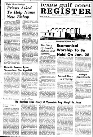 Primary view of object titled 'Texas Gulf Coast Register (Corpus Christi, Tex.), Vol. 2, No. 39, Ed. 1 Friday, January 26, 1968'.