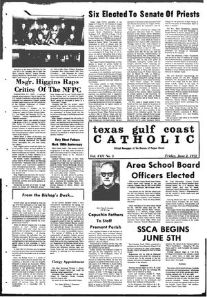 Primary view of object titled 'Texas Gulf Coast Catholic (Corpus Christi, Tex.), Vol. 3, No. 5, Ed. 1 Friday, June 2, 1972'.