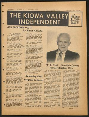 Primary view of object titled 'The Kiowa Valley Independent (Darrouzett, Tex.), Vol. 1, No. 45, Ed. 1 Tuesday, August 6, 1963'.