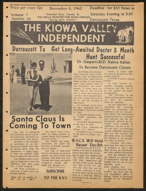 Primary view of object titled 'The Kiowa Valley Independent (Darrouzett, Tex.), Vol. 1, No. 10, Ed. 1 Tuesday, December 4, 1962'.