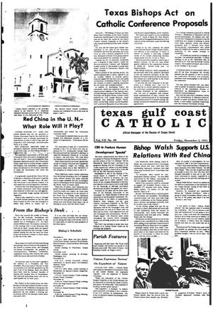 Primary view of object titled 'Texas Gulf Coast Catholic (Corpus Christi, Tex.), Vol. 8, No. 28, Ed. 1 Friday, November 5, 1971'.
