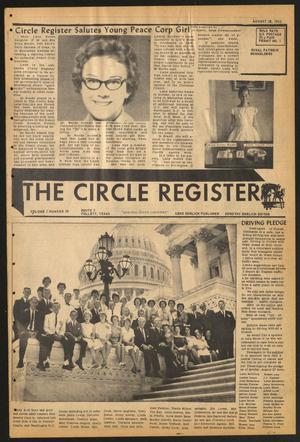 Primary view of object titled 'The Circle Register (Follett, Tex.), Vol. 1, No. 20, Ed. 1 Tuesday, August 28, 1962'.