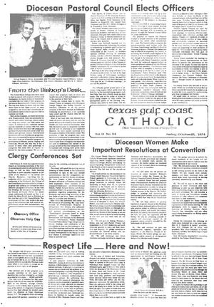 Primary view of object titled 'Texas Gulf Coast Catholic (Corpus Christi, Tex.), Vol. 9, No. 24, Ed. 1 Friday, October 25, 1974'.