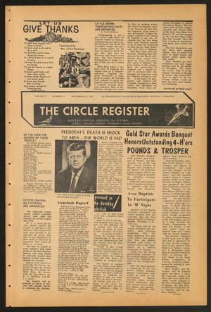 Primary view of object titled 'The Circle Register (Follett, Tex.), Vol. 2, No. 33, Ed. 1 Tuesday, November 26, 1963'.