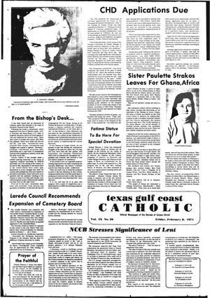 Primary view of object titled 'Texas Gulf Coast Catholic (Corpus Christi, Tex.), Vol. 9, No. 39, Ed. 1 Friday, February 8, 1974'.