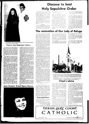 Primary view of object titled 'Texas Gulf Coast Catholic (Corpus Christi, Tex.), Vol. 10, No. 22, Ed. 1 Friday, October 17, 1975'.