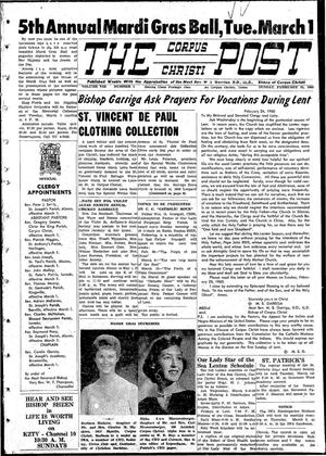 Primary view of object titled 'The Corpus Christi Post (Corpus Christi, Tex.), Vol. 8, No. 1, Ed. 1 Sunday, February 28, 1960'.