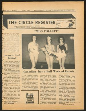 Primary view of object titled 'The Circle Register (Follett, Tex.), Vol. 2, No. 13, Ed. 1 Tuesday, July 9, 1963'.