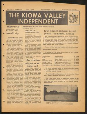 Primary view of object titled 'The Kiowa Valley Independent (Darrouzett, Tex.), Vol. 1, No. 41, Ed. 1 Tuesday, July 9, 1963'.