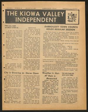 Primary view of object titled 'The Kiowa Valley Independent (Darrouzett, Tex.), Vol. 1, No. 46, Ed. 1 Tuesday, August 13, 1963'.