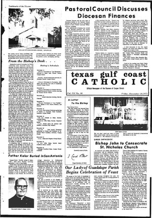 Primary view of object titled 'Texas Gulf Coast Catholic (Corpus Christi, Tex.), Vol. 7, No. 33, Ed. 1 Friday, December 10, 1971'.