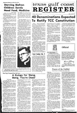 Primary view of object titled 'Texas Gulf Coast Register (Corpus Christi, Tex.), Vol. 3, No. 38, Ed. 1 Friday, January 10, 1969'.