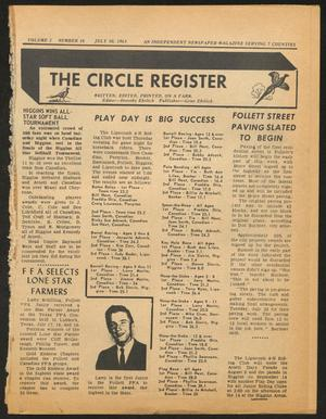 Primary view of object titled 'The Circle Register (Follett, Tex.), Vol. 2, No. 16, Ed. 1 Tuesday, July 30, 1963'.