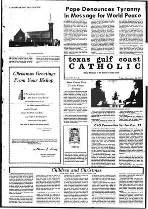 Primary view of object titled 'Texas Gulf Coast Catholic (Corpus Christi, Tex.), Vol. 7, No. 35, Ed. 1 Friday, December 24, 1971'.