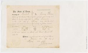 Primary view of object titled '[Kendall County Stock Mark and Brand Certification for Alex Kaiser]'.