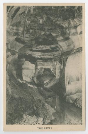 Primary view of object titled '[Postcard of The River in a Cave, Boerne, Texas]'.
