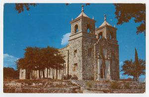 Primary view of object titled '[Postcard of Catholic Church in Boerne, Texas]'.
