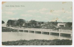 Primary view of object titled '[Postcard of the Cibolo Bridge, Boerne, Texas]'.