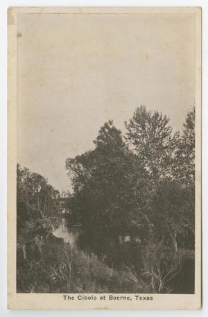 Primary view of object titled '[Postcard of The Cibolo, Boerne, Texas]'.