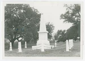 Primary view of object titled '[Photograph of Treue der Union Monument, Comfort, Texas]'.