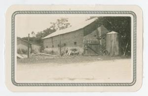 Primary view of object titled '[Photograph of Shroder Livery Stable]'.