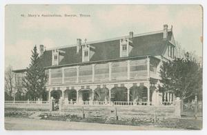 Primary view of object titled '[Postcard of St. Mary's Sanitarium, Boerne, Texas]'.