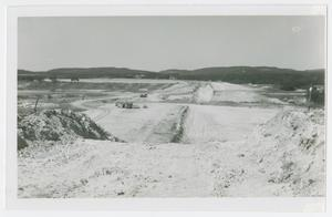 Primary view of object titled '[Photograph of Boerne Lake and Dam Construction]'.