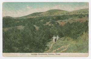 Primary view of object titled '[Postcard of Sabinas Mountains, Boerne, Texas]'.