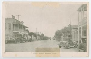 Primary view of object titled '[Postcard of a Street in Boerne, Texas]'.