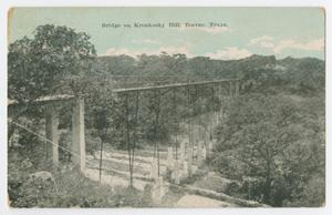 Primary view of object titled '[Postcard of the Bridge on Kronkosky Hill, Boerne, Texas]'.